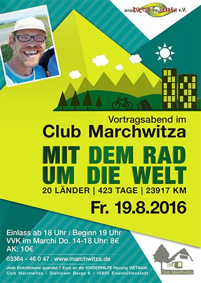 Vortragsabend im Club Marchwitza - Mit dem Rad um die Welt
