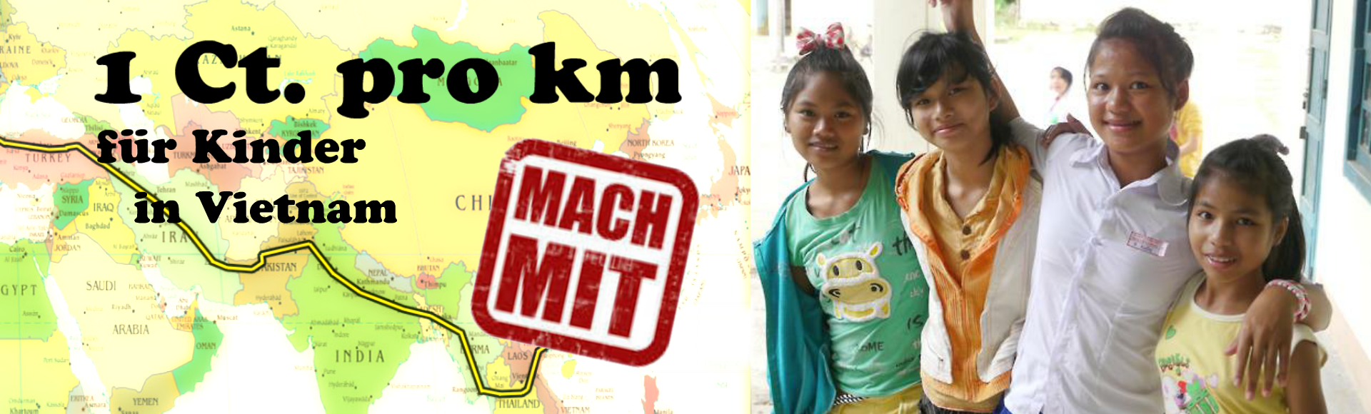 1 Cent pro km für Kinder in Vietnam